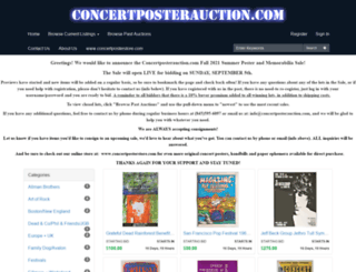 concertposterauction.com screenshot