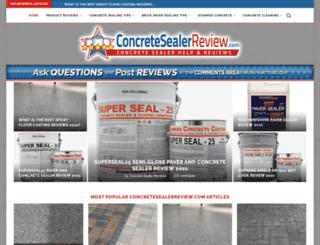 concretesealerreview.com screenshot