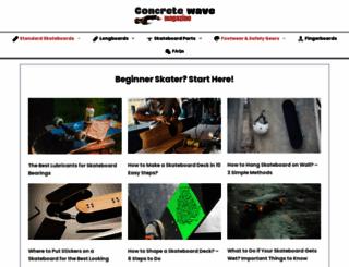 concretewavemagazine.com screenshot