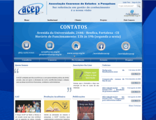 concursos.acep.org.br screenshot