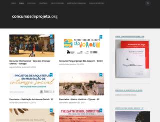 concursosdeprojeto.org screenshot