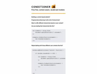 conditionerjs.com screenshot