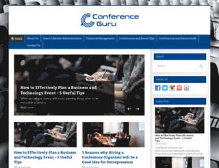 conferenceguru.com screenshot