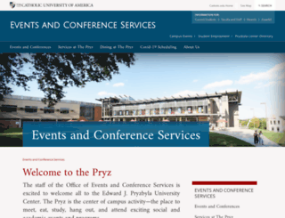 conferences.cua.edu screenshot