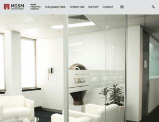 conferences.mgsm.com.au screenshot