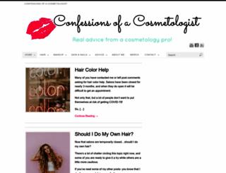 confessionsofacosmetologist.com screenshot