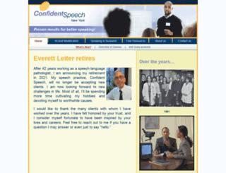 confidentspeech.com screenshot