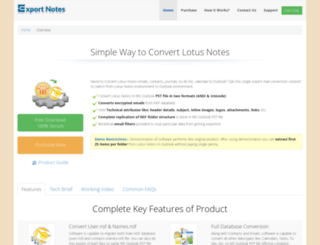 configure-lotus-notes.convertlotusnotes.net screenshot