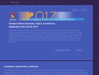 congresomultimedia.umng.edu.co screenshot