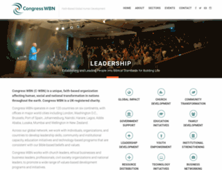 congresswbn.org screenshot