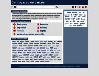 conjugacao-de-verbos.com screenshot