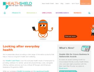 connect.healthshield.co.uk screenshot