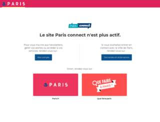 connect.paris.fr screenshot