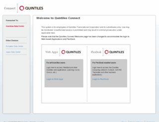 connect.quintiles.com screenshot