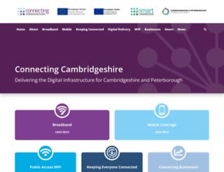 connectingcambridgeshire.co.uk screenshot