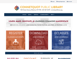 connetquotlibrary.org screenshot
