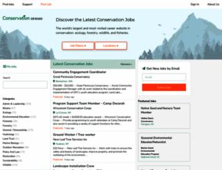 conservationjobboard.com screenshot