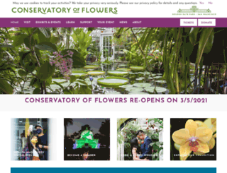conservatoryofflowers.org screenshot