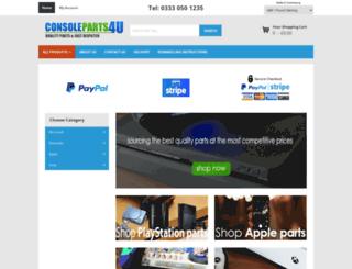 consoleparts4u.co.uk screenshot