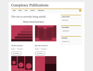 conspiracypublications.com screenshot