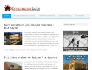 constructeurfacile.com screenshot