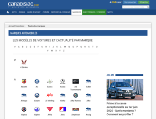 constructeurs.caradisiac.com screenshot