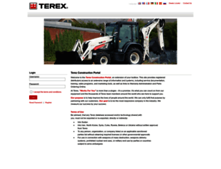 constructionsupport.terex.com screenshot