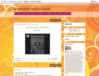 construindonossocastelo.blogspot.com.br screenshot