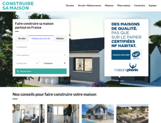 Construiresamaison.com Screenshot