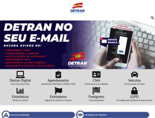 consultas.detrannet.sc.gov.br screenshot