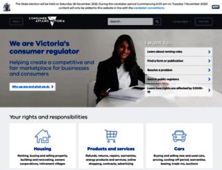 consumer.vic.gov.au screenshot