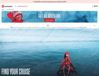 consumerbooking.hurtigruten.com screenshot