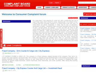 consumercomplaintboard.com screenshot
