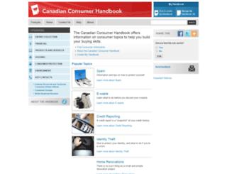 consumerinformation.ca screenshot
