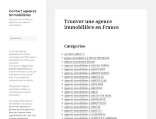 contact-agence-immobiliere.com screenshot