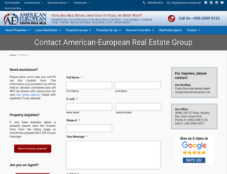 contact.american-european.net screenshot