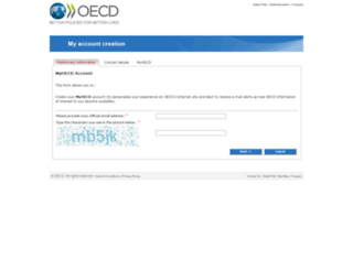 contact.oecd.org screenshot