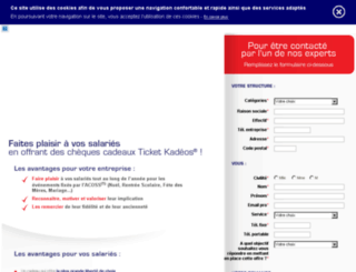 contact.ticket-kadeos.fr screenshot