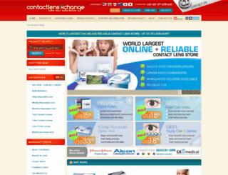 contactlensxchange.com screenshot