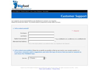 contactus.bigfoot.net screenshot