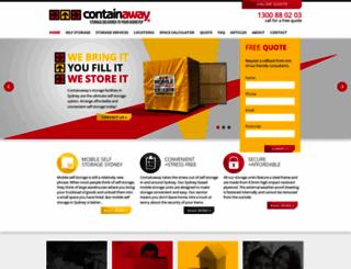 containaway.com.au screenshot