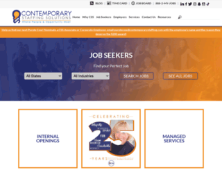 contemporarystaffing.com screenshot