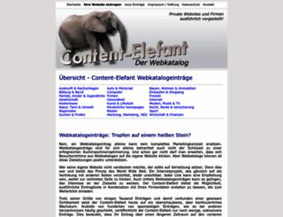 content-elefant.de screenshot