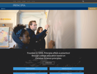 content.principia.edu screenshot