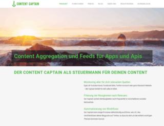 contentcaptain.de screenshot