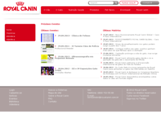 conteudo.royalcanin.com.br screenshot