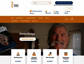 continence.org.au screenshot