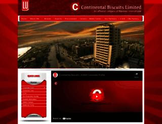 continentalbiscuits.com.pk screenshot