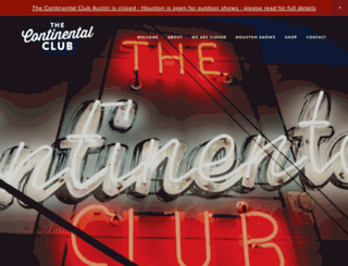 continentalclub.com screenshot