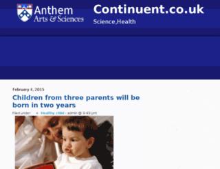 continuent.co.uk screenshot